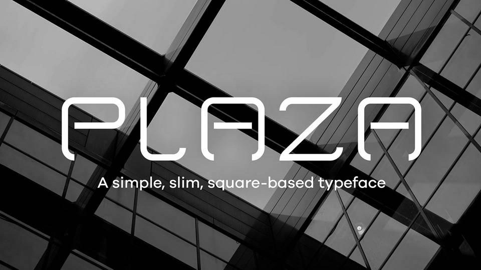 plaza free font