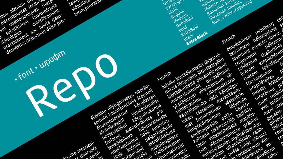 repo free font family