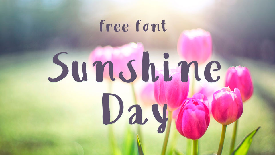 sunshine day free font