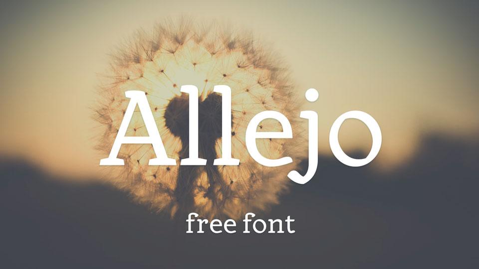 allejo free font