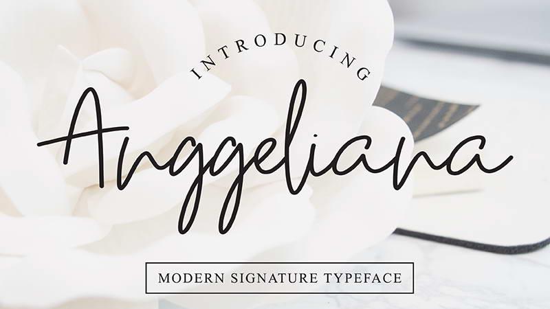 anggeliana free font