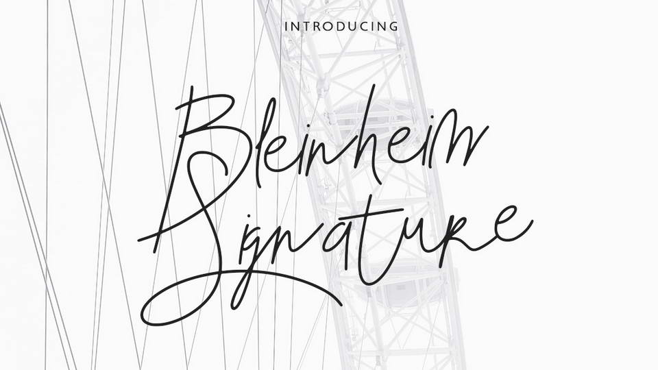 bleinheim signature font