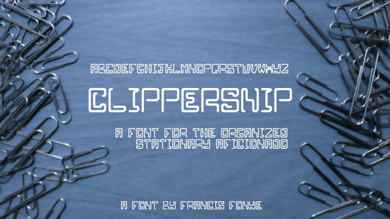 clippersnip free font