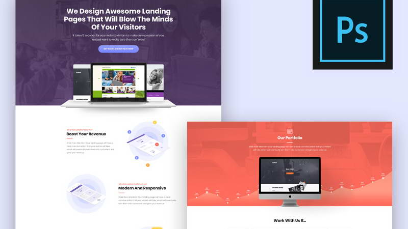 download landing psd