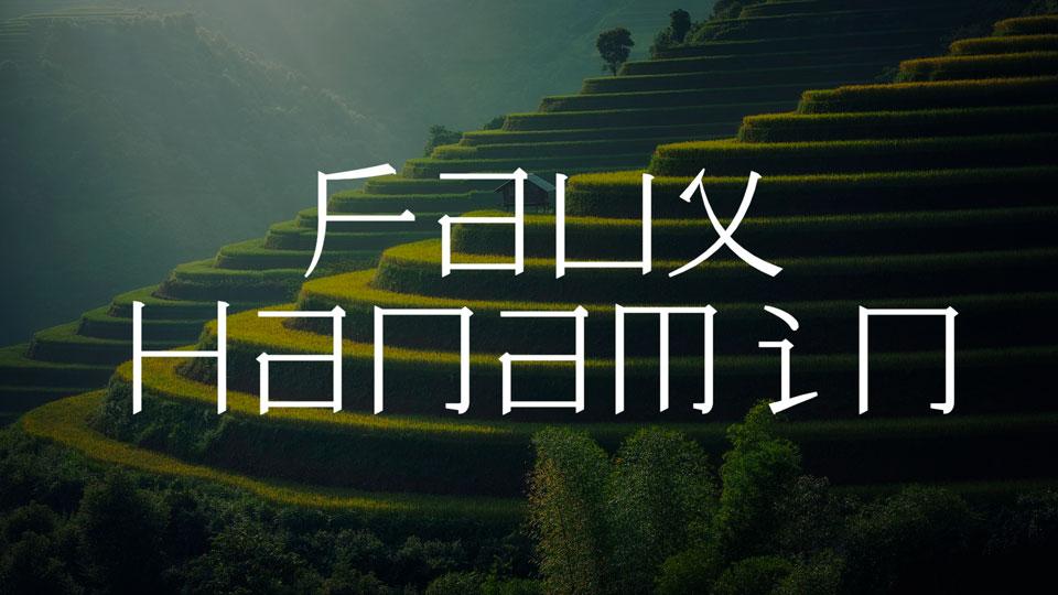 faux hanamin free font