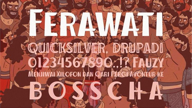 ferawati free font
