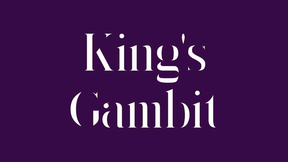 kings gambit free font