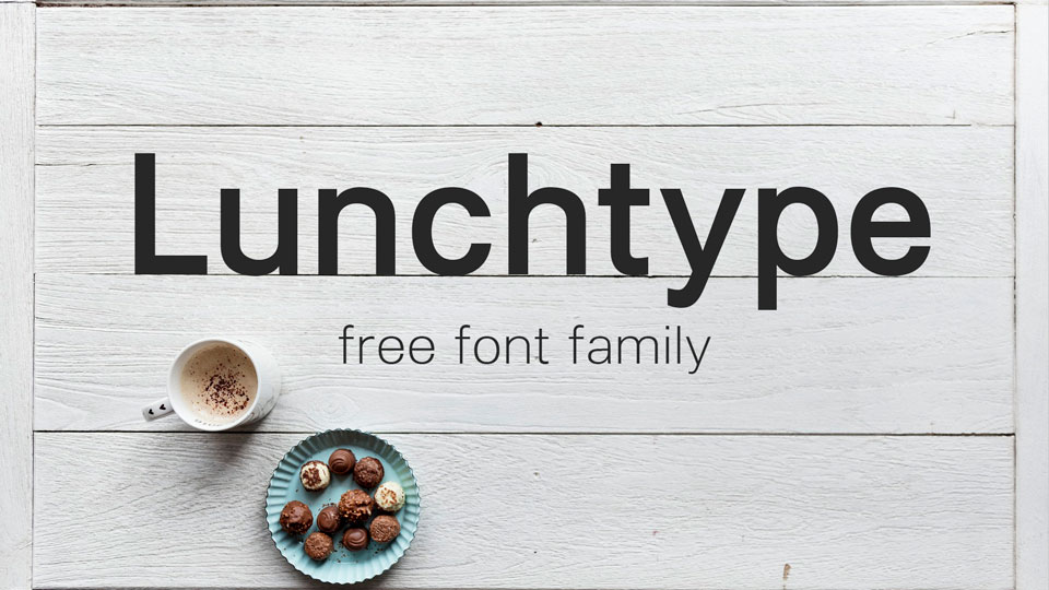 lunch type free font family