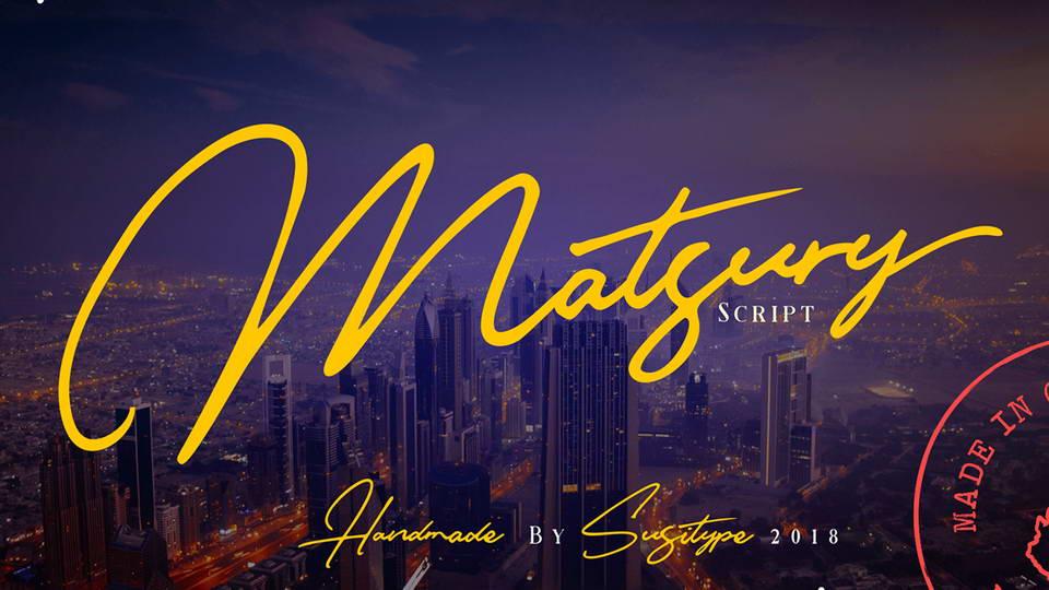 matsury free font