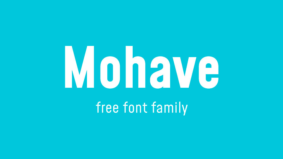 mohave free font family