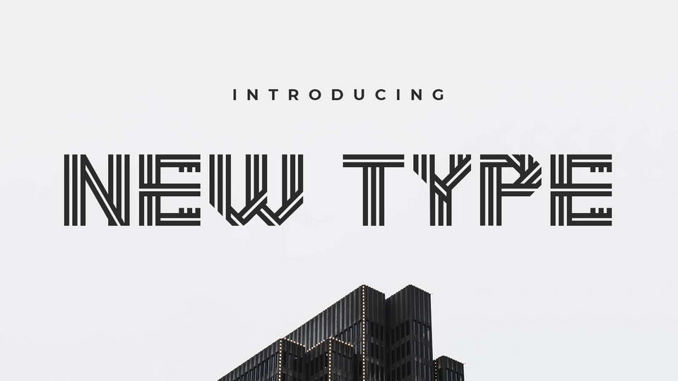 new type free font