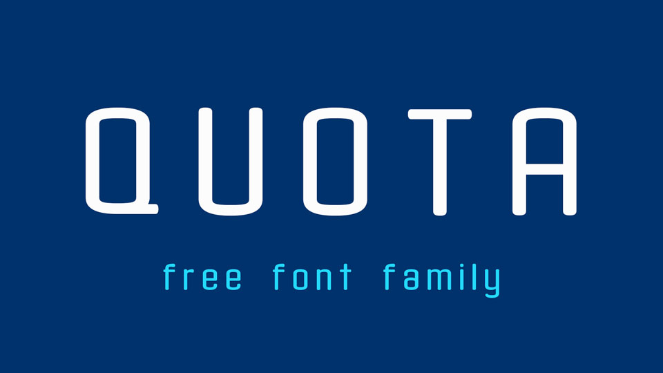 quota free download font
