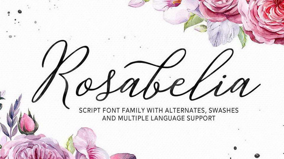 rosabelia free font
