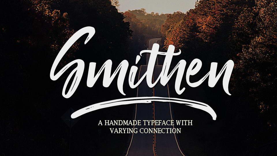 smithen script free font