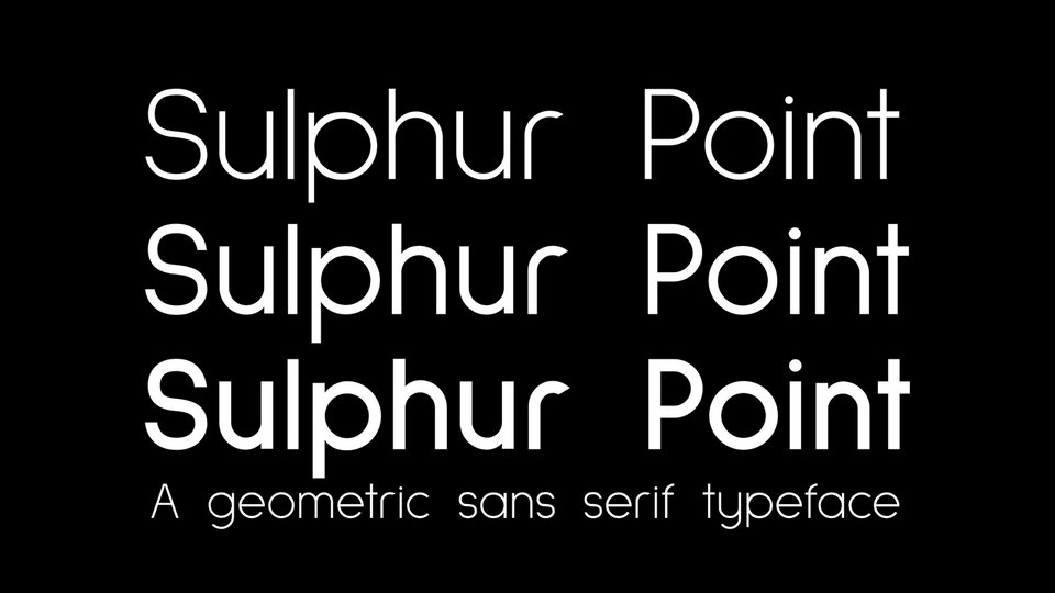 sulphur point free font