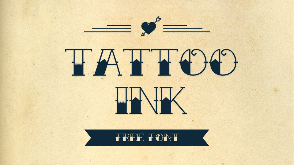 10 Retro Tattoo Fonts Free For Commercial Pinspiry