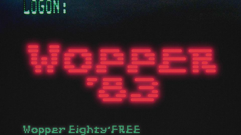 wopper free font