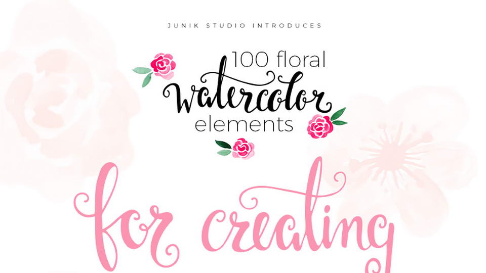 100 floral watercolors