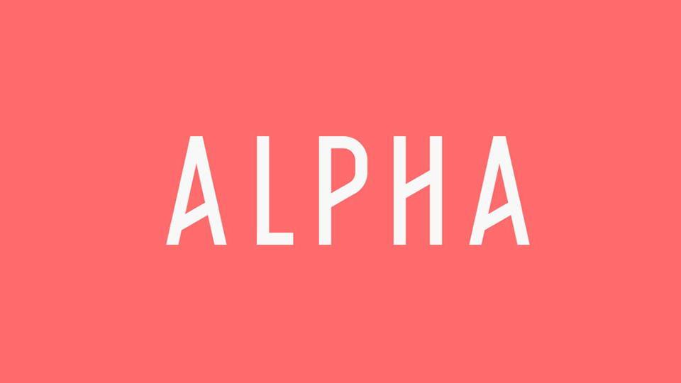 alpha free font