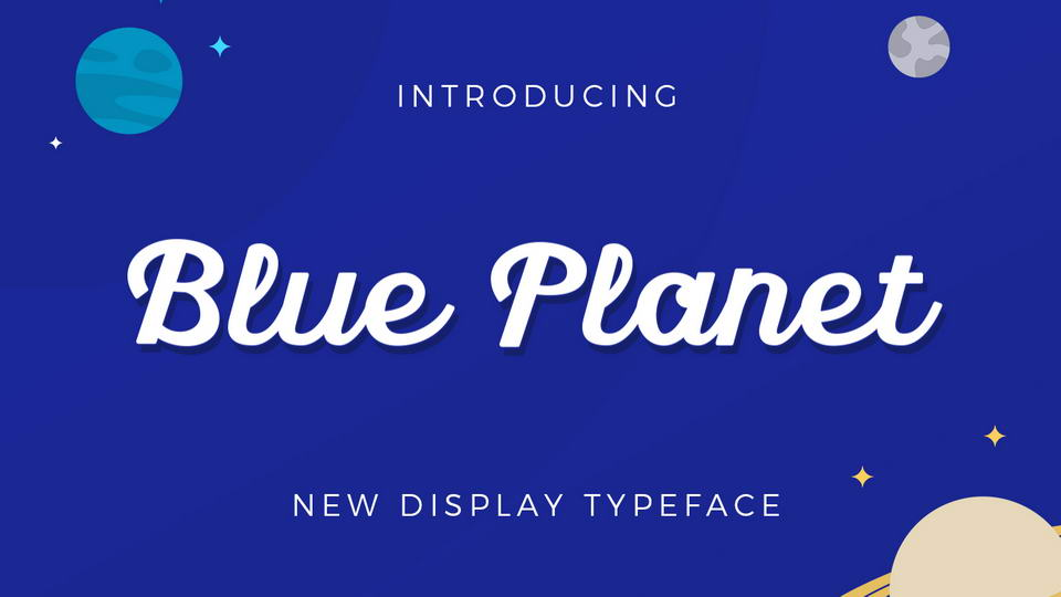 blue planet free font