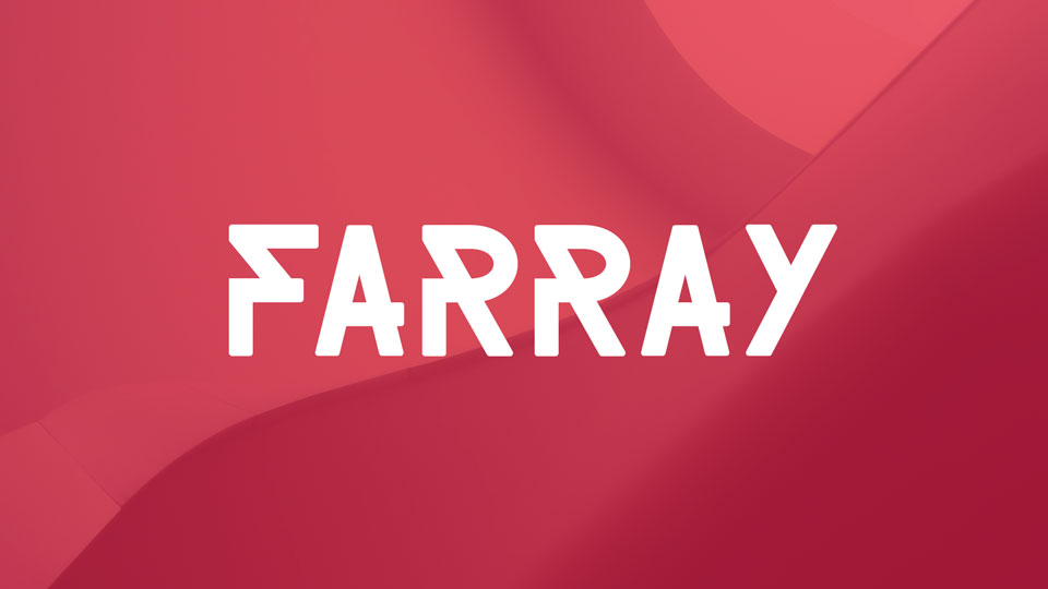 Farray Is A Free Creative Geometric Font It Contains Uppercase Letters Numerals And Symbols Good For Branding Package Posters Other Display