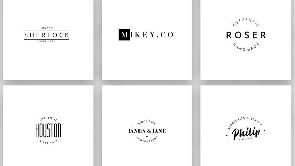 Free Modern Minimal Logo Pinspiry - Free modern logo templates