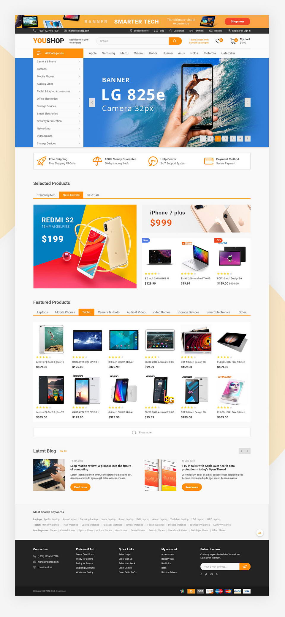 Ecommerce Web Template XD · Pinspiry