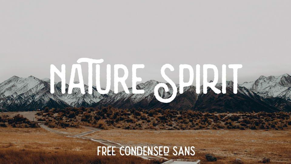 nature spirit free font