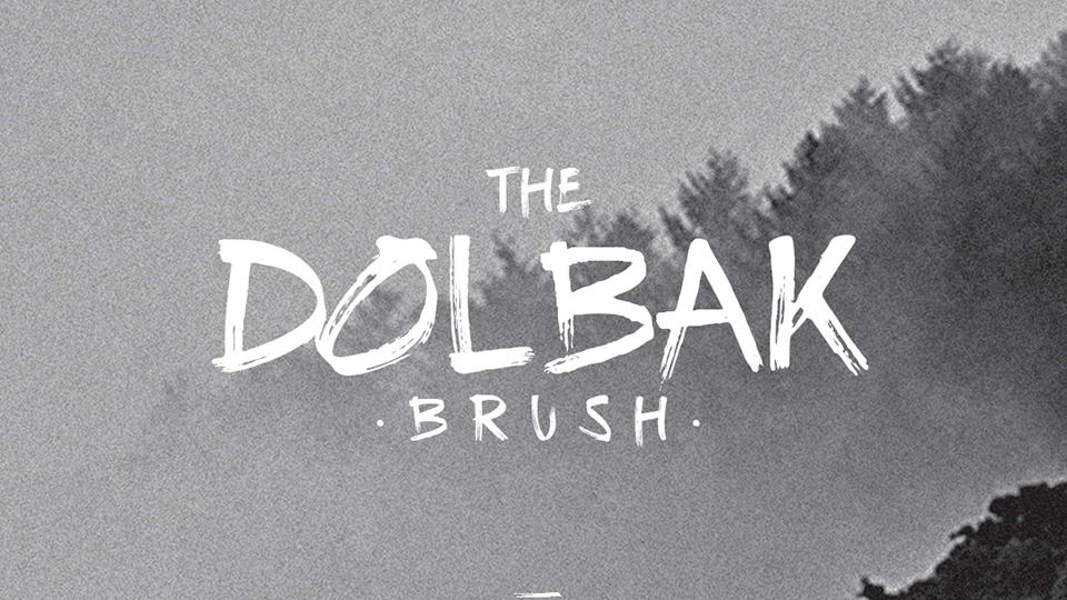 the dolbak brush free font