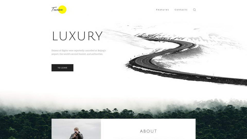 tourism web template