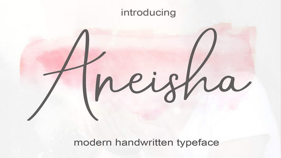 Aneisha Script Is A Modern Calligraphy Font With The Current Handwriting Style This Perfect For Branding Wedding Invites Magazines Mugs