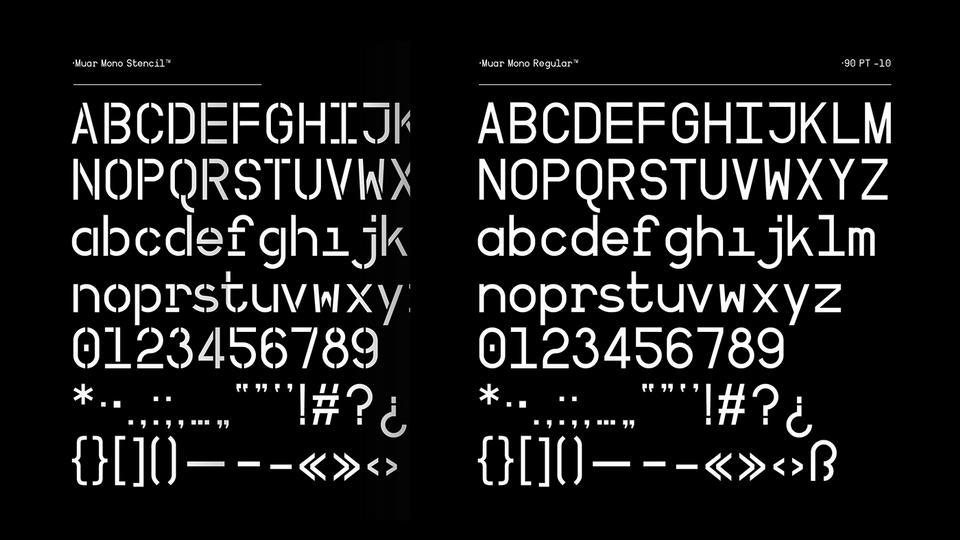 Muar Mono Free Font · Pinspiry