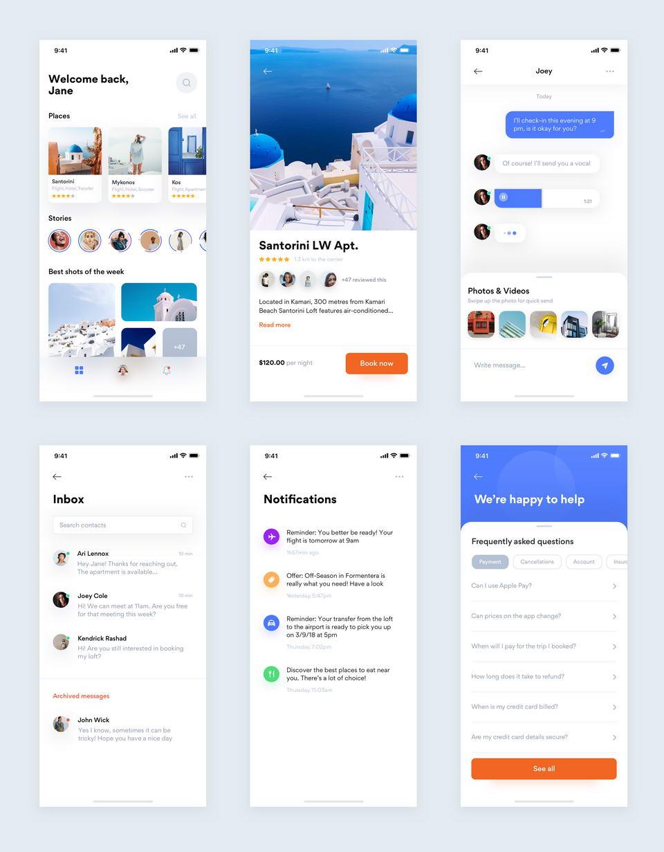 Travel App Free UI Kit Sketch · Pinspiry