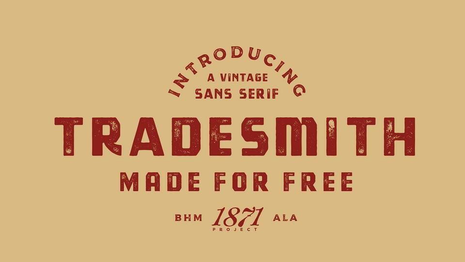 tradesmithfreefont