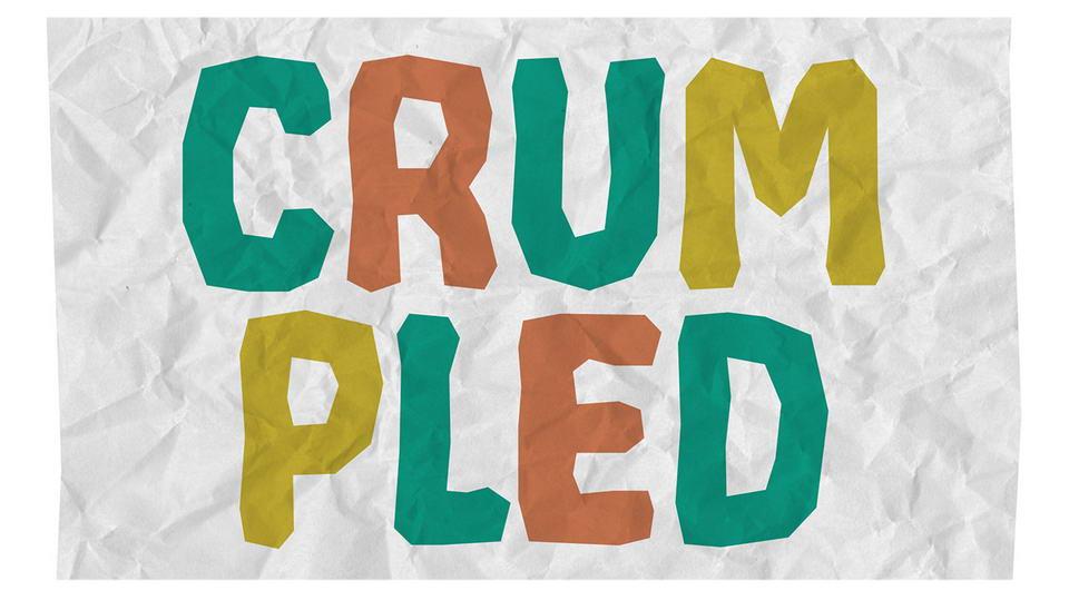 crumpledfreefont