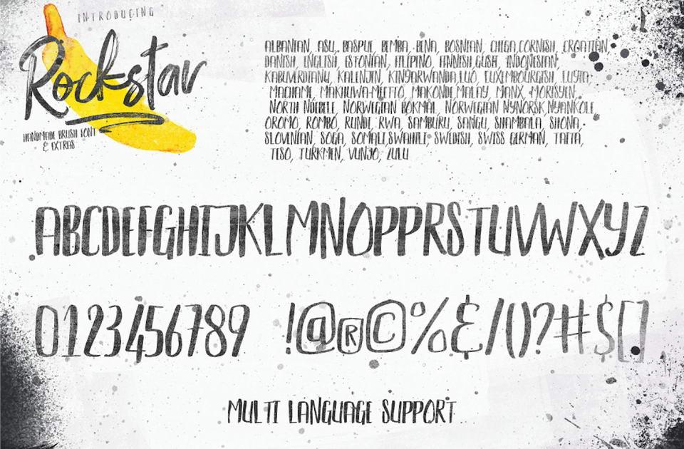 Rockstar Free Font Duo · Pinspiry