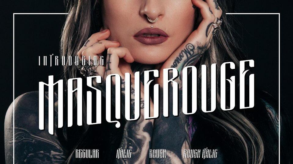 Masquerouge Free Font · Pinspiry