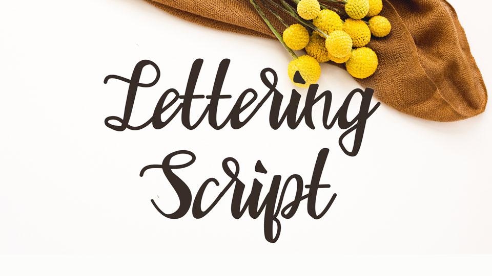 lettering_script