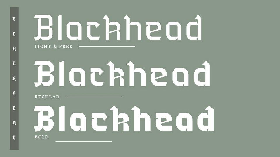 Blackhead Free Font · Pinspiry