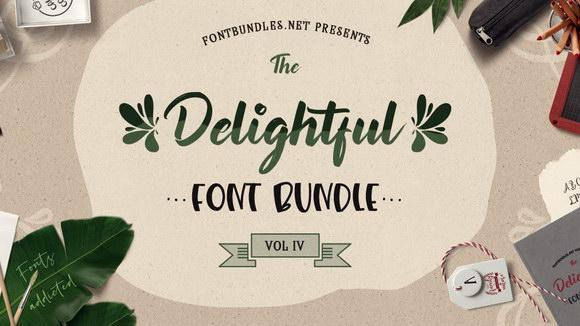 The-Delightful-Font-Bundle-Vol-IV-Main