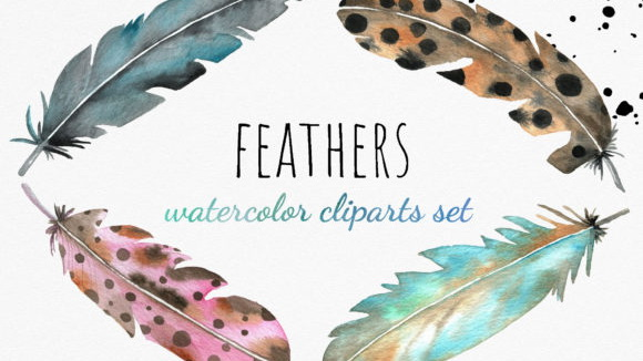 Watercolor-Feather-Cliparts-Graphics-4003399-1-1-580×387 (2)